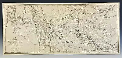 Rare, Antique Map Lewis & Clark's Track Across Western Portion Of North America