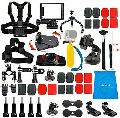 Lifelimit Accessories Starter Kit For Gopro Hero 5/Session/4/3/2/HD/LCD Black