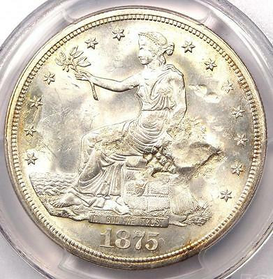 1875-S Trade Silver Dollar T$1 - PCGS MS63 Chop Mark - $1,800 Value in MS63!