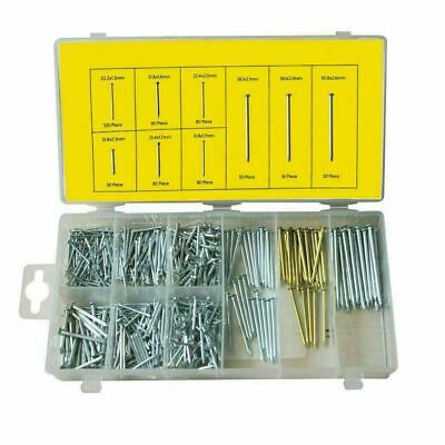 550 Piece Nail Assortment Bright Panel Masonry Nails Wood in A Case