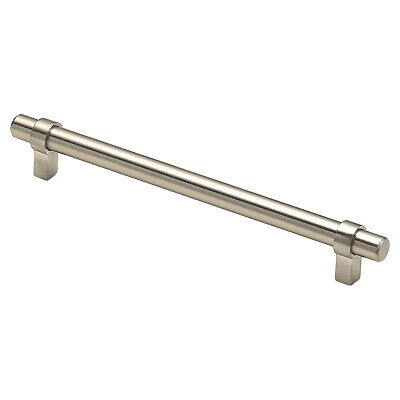 "10x EURO LOOP STYLE 7-9/16"" CENTERS BRUSHED NICKEL CABINET PULL HANDLE 9-3/16"""