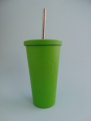 Starbucks Coffee Matte Green Stainless Steel Cold Cup 16oz NEW