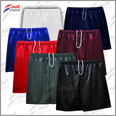 Boys Girls Kids Children Shadow Stripe School Uniform Shorts Gym PE Football »