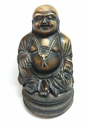 Antique Old Chinese Asian Soapstone Carving Hotei Happy Laughing Buddha Statue
