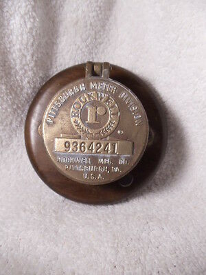 Vintage Rockwell Hinged Brass Meter Cover Pittsburgh PA With Seal