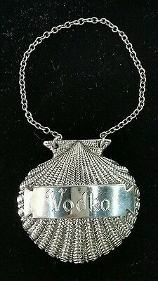 Tiffany & Co Sterling Silver 925 Shell Decanter Label /Tag Vodka