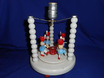 Vintage Child's Toy Soldier Musical and Motion Lamp