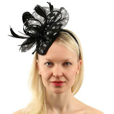 CC Sinamay Ribbon Feathers Fascinators Headband Cocktail Derby  Church Hat