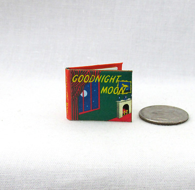 GOODNIGHT MOON Color Illustrated Miniature Book 1:12 Scale Dollhouse Readable