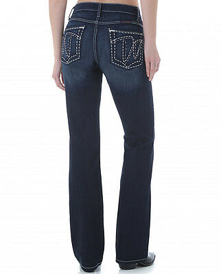 WRANGLER QBABY Women's Riding Ultimate Q-Baby Dark Boot Cut Jeans WRQ20ET NWT