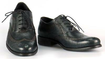 JUMP VICKERS Elegant Men's Nevy Leather Wingtip Oxford Dress Shoes Size 11