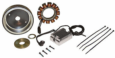 Harley Complete 32A Charge Kit. All Shovel & Evo 1970-1999. Stator, Rotor, Reg