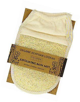 Hydrea London Organic Egyptian Loofah Exfoliating Glove Pad Gloves for Cleansing