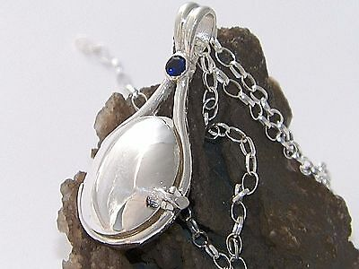 NEW H2O Add Water Mermaids Locket Pendant 925Sterling Silver 4 mm Corundum Stone