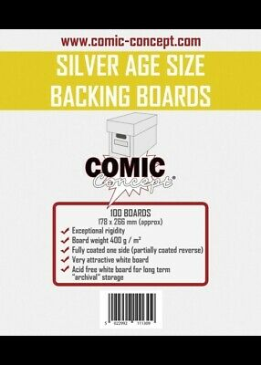 Comic Concept Comic Backing Boards Silver Age Size (100 St.)