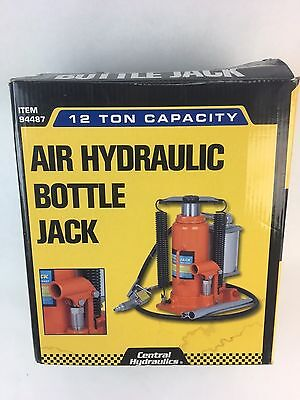Central Hydraulics 94487 12 Ton Industrial Air Hydraulic Bottle Jack