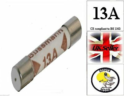 Domestic Household Mains Plug Cartridge Fuse Bs1362 13A Uk Seller