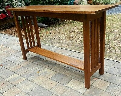 Mission Oak Style Sofa Hall Console Table Vintage