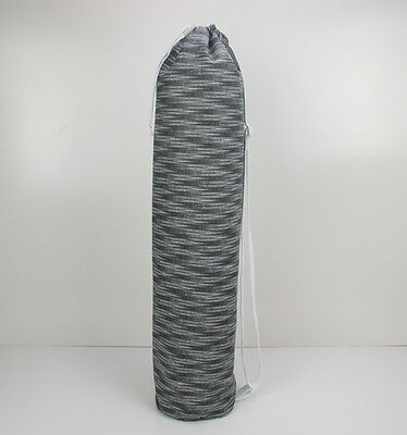 Handmade Grey & White Yoga/Pilates Mat Bag with Adjustable Carry Strap