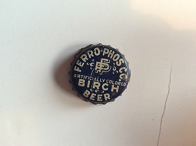 Ferro - Phos Co. Birch Beer Soda  Bottle Cap  - used  - Cork  Lined