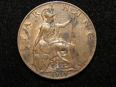 Nice 1919 Great Britain Farthing Coin Lot 245