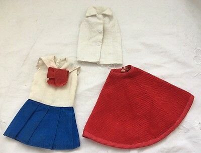 Vintage Barbie Doll Clone Knock Off Outfits RED CORDUROY SKIRT Top SAILOR DRESS