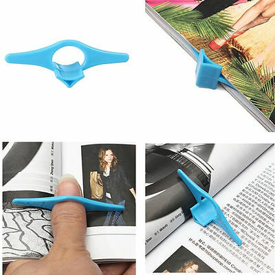 3x UK Thumb Book Page Holder Bookmark Plastic Multifunctional Reading Aid