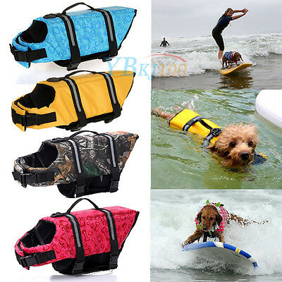 Multi-size Pet Aquatic Reflective Preserver Float Vest Dog Saver Life Jacket New