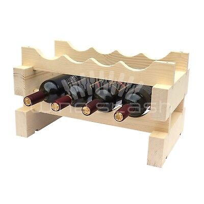 8 Bottle Modular Wine Rack - Stackable - Wine Stash - Free Shipping Aus Wide