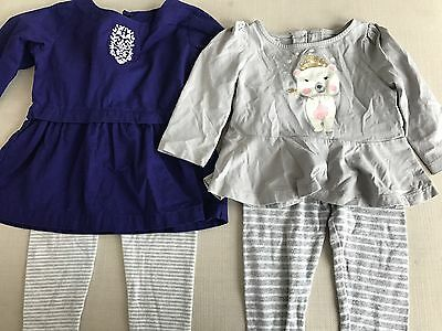 Gymboree Carters Baby Girl Outfits 12-18 Months Lot Of 2