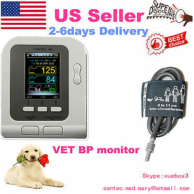 USA Stock,CONTEC08A VET Veterinary Digital Blood Pressure Monitor,NIBP PR,FDA