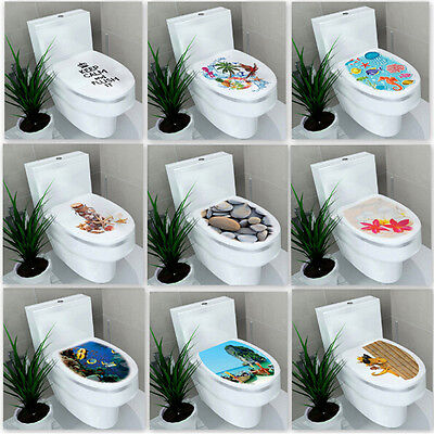 3D Toilet Seat WC Bathroom DIY Vinyl Removable Wall Sticker Home Decor Decals