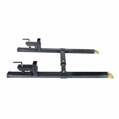 30'' LW Clamp on Pallet Forks 2000lbs Capacity Tractor Chain w/ Stabilizer Bar