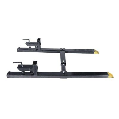 Pro 1500lbs capacity Clamp on Pallet Forks Loader Bucket Skidsteer Tractor chain