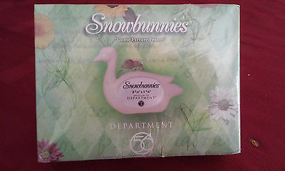 "Department 56 Snowbunnies ""Goose Picture Frame"" NIB"