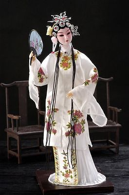 Oriental Broider Doll,Chinese Old style figurine China doll DU SHI NIANG girl