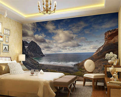 Kvalvika Beach North Norway Full Wall Mural Photo Wallpaper Print Home 3D Decal