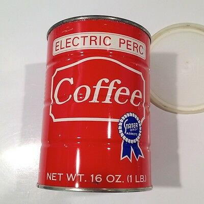 Vintage RARE Stater Bros Markets Coffee 1LB Tin Can with Lid
