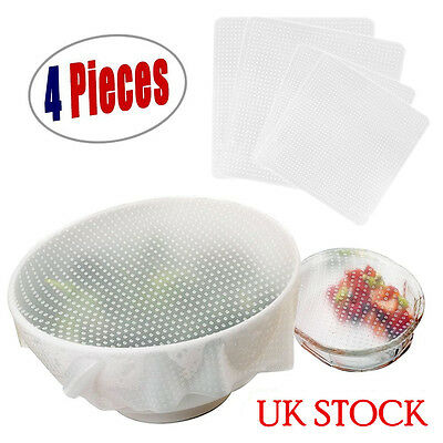 Silicone Wraps Seal Bowl Covers and Food Stretch Lids Reusable Keep Food Fresh