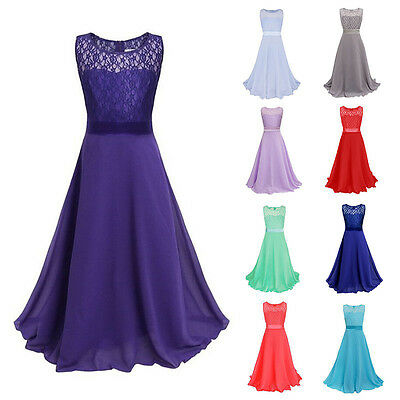 Baby Girls Pageant Party Wedding Bridesmaid Princess Flower Formal Lace Dresses