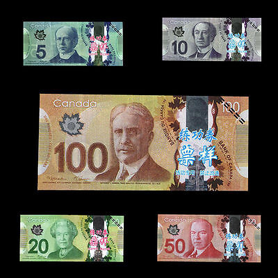 5pcs/set CAD 100/50/20/10/5 Training Banknotes Home Decoration Money Arts Gifts