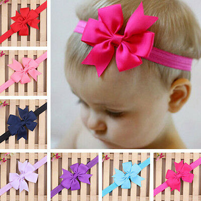 1PC Newborn Kid Baby Flower Headband Girls Toddler Infant Hair Bow Band Headwear