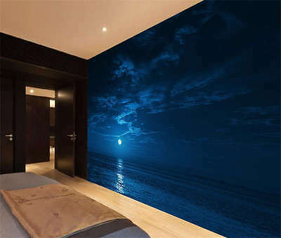 Moon Night Sky Stars Full Wall Mural Photo Wallpaper Print Kids Home 3D Decal