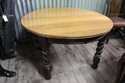 A Jacobean Oak Dining Table with Barley Twist Legs