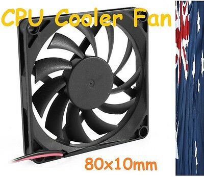 12V 80mm x 10mm Brushless PC CPU Cooling Fan Cooler 2 Pin 8cm x 1cm Radiator RPM