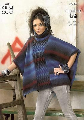 Knitting Pattern For Ladies Jacket & Cape Using King Cole Dk Yarn Pattern 3215