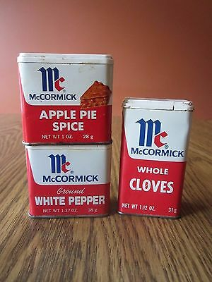 Lot of 3 vintage Spice Tins from McCormick