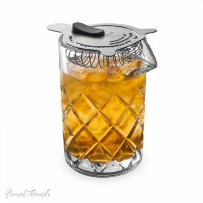 Classic YARAI MIXING PITCHER Age-Old Cocktail Glass With Ice Catches STRAINER