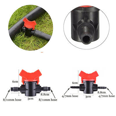 10X 4/7mm/5X 8/11mm  Hose Valve Switching Sprinkler Irrigation Drip Irrigation