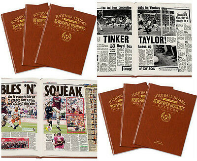 PERSONALISED English FOOTBALL TEAMS Club History NEWSPAPER Book Gift Idea FC Him